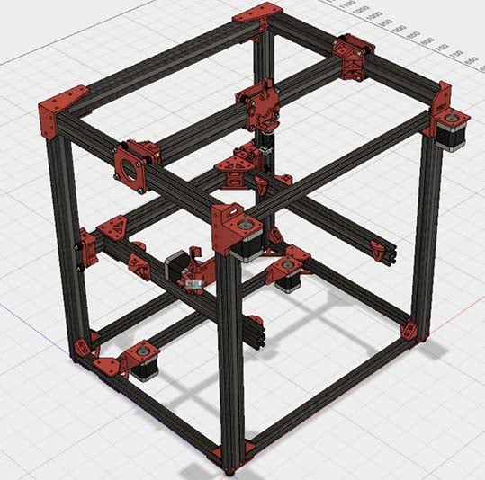 D-Bot CoreXY Reprap Printer