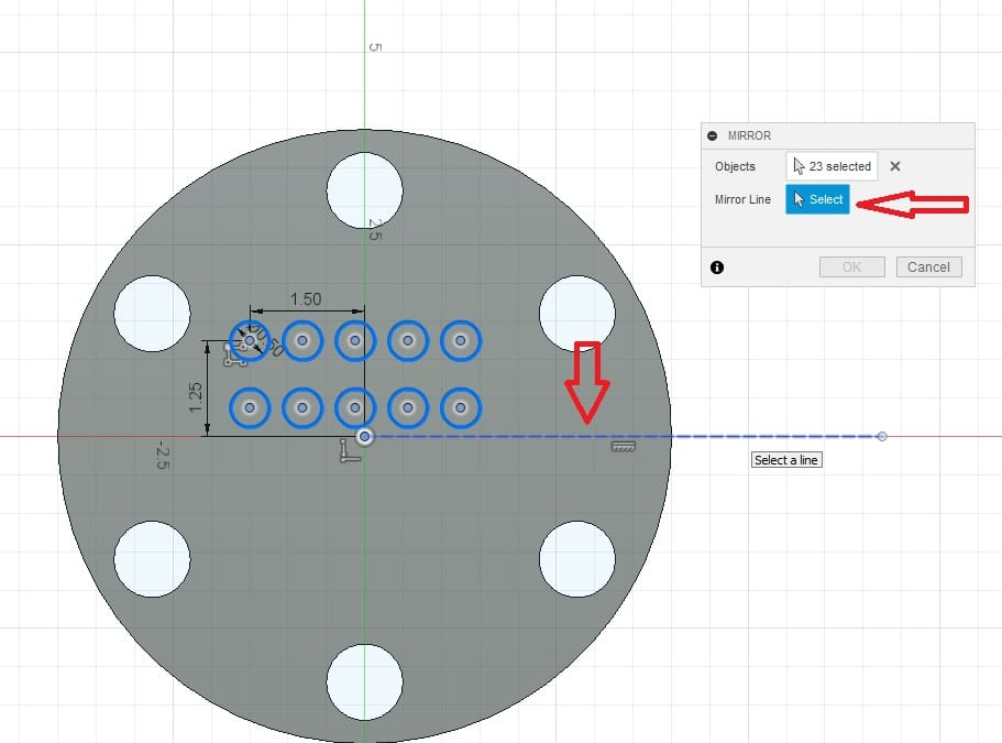 Fusion 360 Tutorial-Circular Pattern-Rectangular Pattern 23